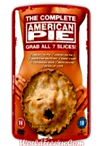 Poster Of Hollywood Film American Pie All 7 Slices In 300MB Compressed Size PC Movies Free Download At worldfree4u.com