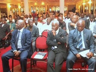 Des participants au point de presse de l'Alternance pour des Elections Transparentes et Apaisées(AETA), une plate-forme des ONG de la société civile de la RDC le 09/05/2014 à Kinshasa. Radio Okapi/Ph. John Bompengo