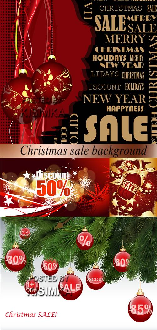 Stock: Christmas sale background