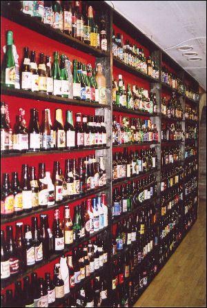 En del av flasksamlingen