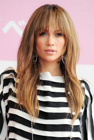 Latest Jennifer Lopez Bangs Long Brown Straight Hairstyles 2012 2013 Hair Cuts
