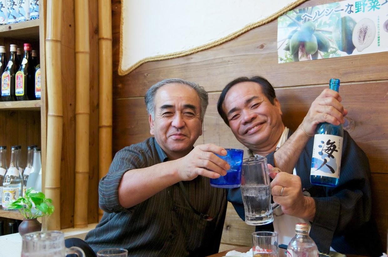渡部達雄さん(左)金城盛憲さん(右)