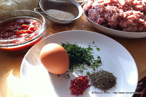 Razvan Anton Sarmale carne de porc ou marar cimbru ardei dulce orez bulion varza murata