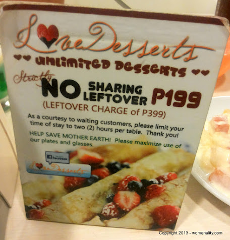 Unlimited Desserts for Php 199 at Love Desserts