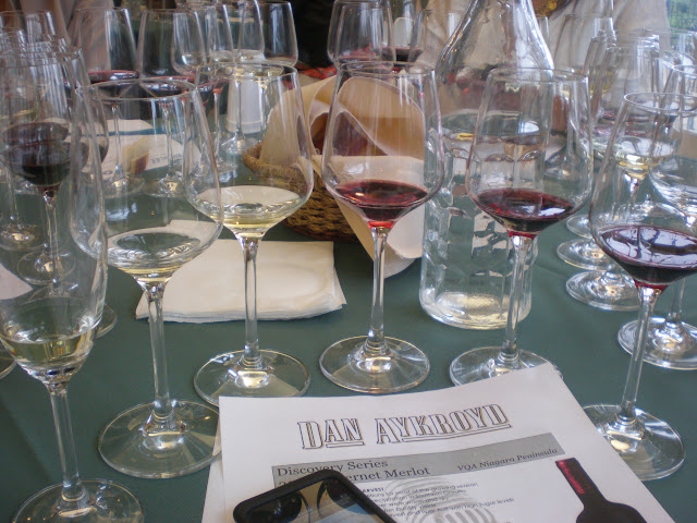 The afternoon's wines.