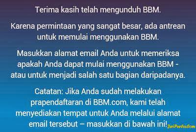 Pengguna yang sudah terdaftar bisa menggunakan BBM For Android