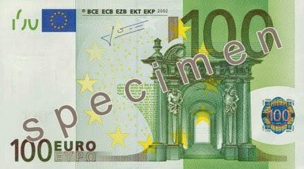 gambar uang kertas 100 euro