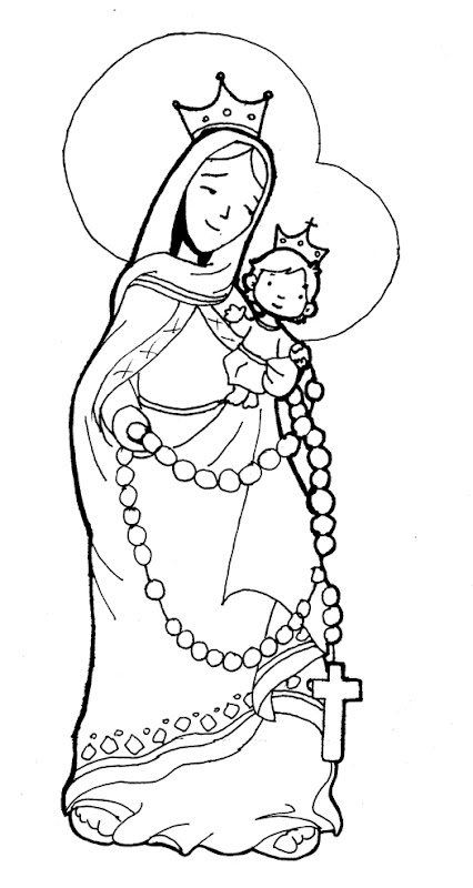 Virgin Marie of the Rosary coloring pages