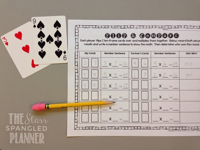 Multiplication Activity using a deck of cards, Multiplication Game