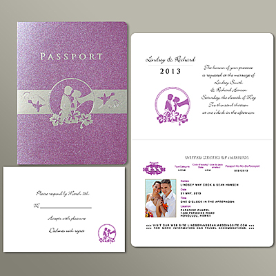 Two Square Root Of Three Weddingblog On Passport Invitation
