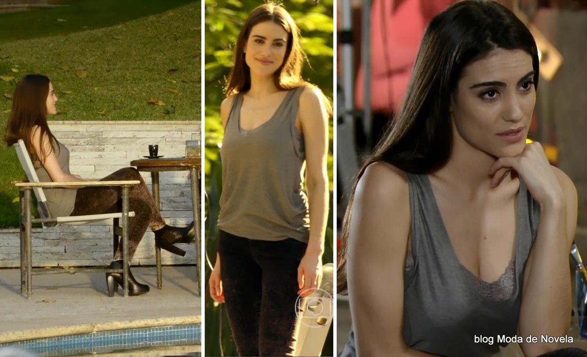 moda da novela Em Família - look da Flavinha dia 30 de junho