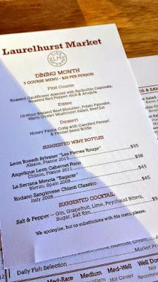 Laurelhurst Market Portland Dining Month 2015 Laurelhurst Market menu and suggested beverages