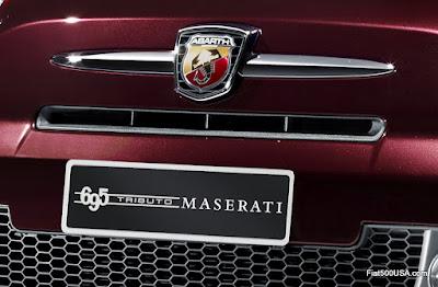 695 Abarth Tributo Maserati Plate