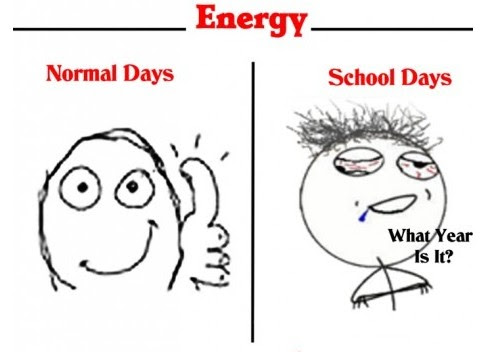 Normal Days VS School Days-energy