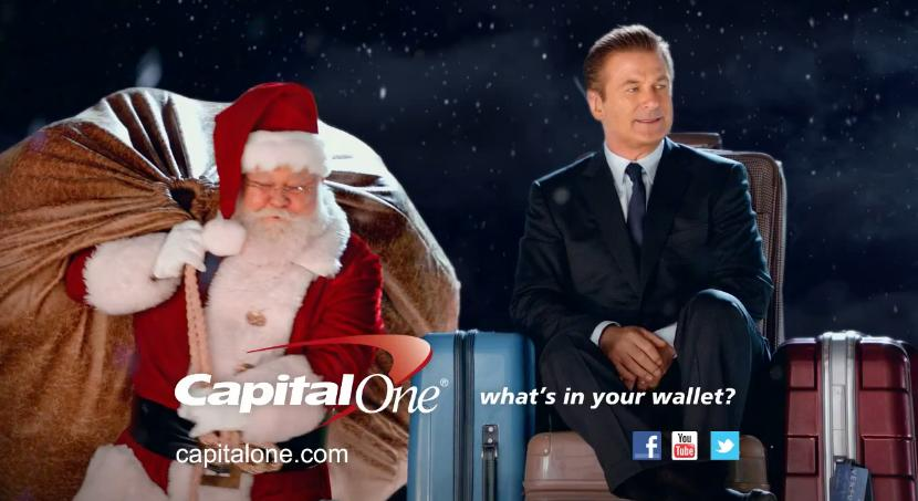 Alec Baldwin in Capital One 2012 I've Been Naughty Christmas Ad