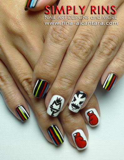 Manny Pacquaio Nail Art Design