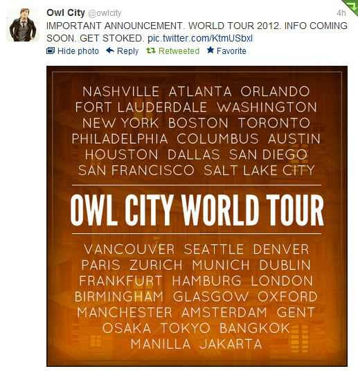 Owl City Live in Manila 2012, Good Times – MP3 Listen