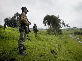 Des soldats congolais au Nord-Kivu le long de la frontière avec le Rwanda. © MONUSCO/Sylvain Liechti