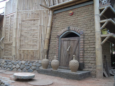 Shape your pottery and put in furnace
