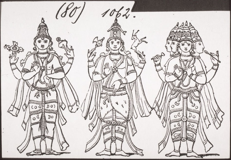 Vishnu, Shiva, Brahma  - BM Archives