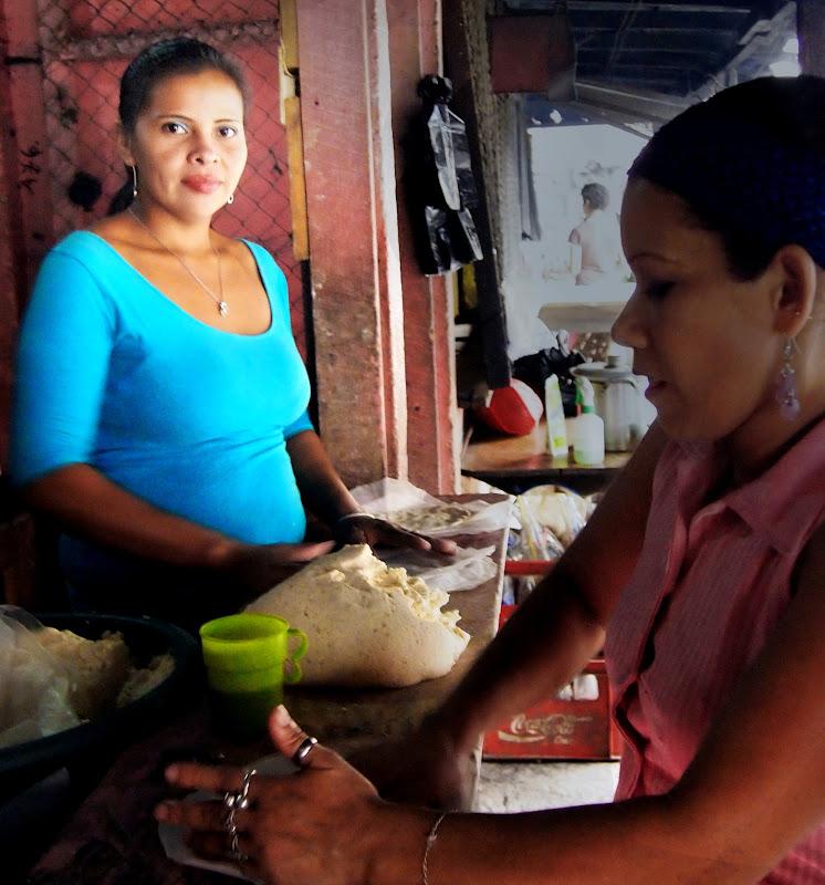 Tortilla making in Nicaragua