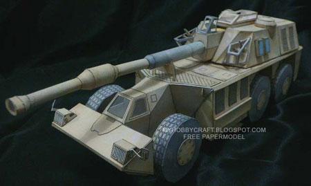 GV6 Rhino G6 Howitzer Papercraft