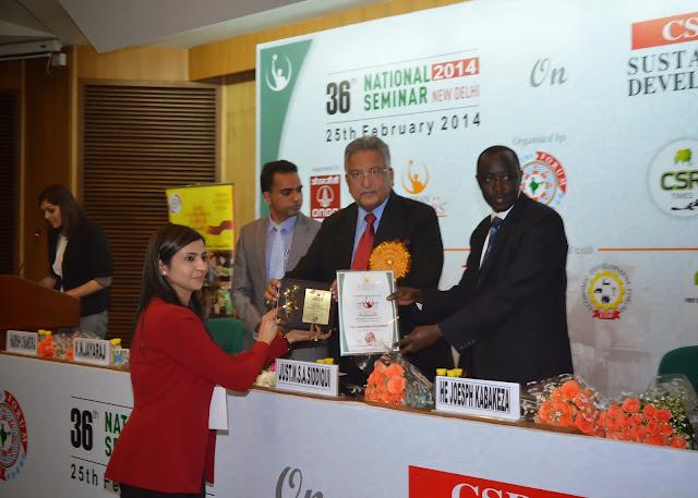 Shubi Husain India Achievers Award
