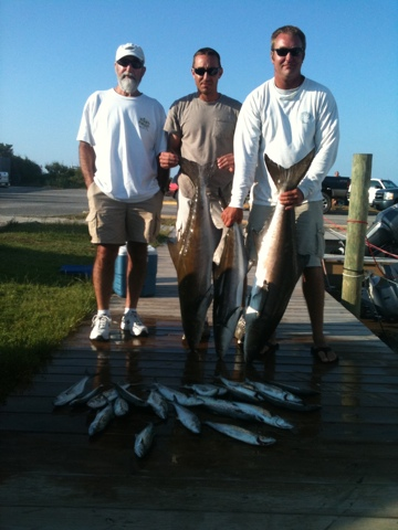 Rock solid fishing penland crew catches spanish and cobia for Rock solid fishing