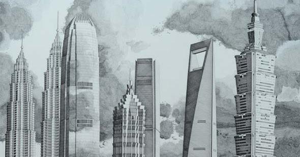 Blog Serius Serius Kreatif The Happiness Machine Lukisan Bangunan Tinggi Dunia Oleh Mark Lascelles Thornton 7 Gambar