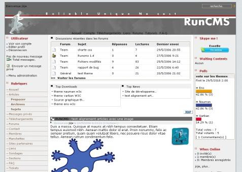 RunCMS - Free CMS Script