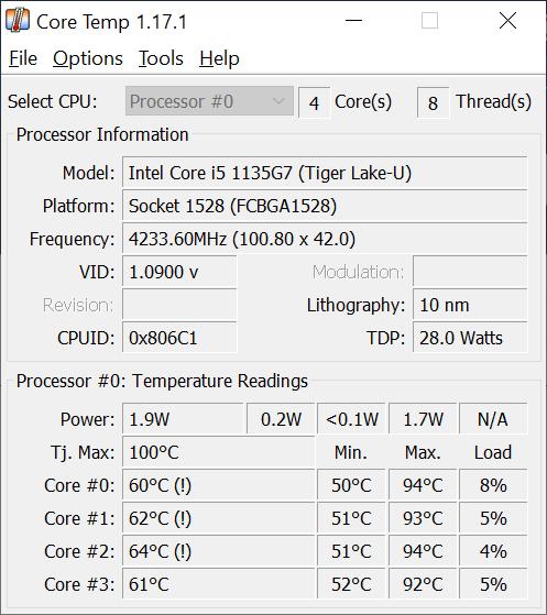CPU temp monitor