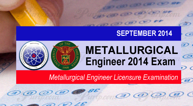 Metallurgical Engineering September 2014 Exam Results