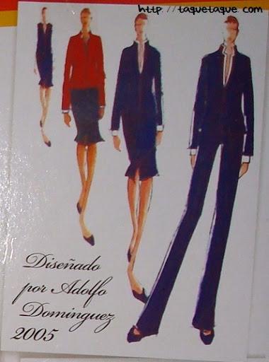 diseños de adolfo dominguez para iberia 2005