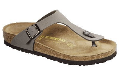 2db4b5c880cf Birkenstock thongs Gizeh from Birkibuc in stone with a narrow insole size  37.0 N EU