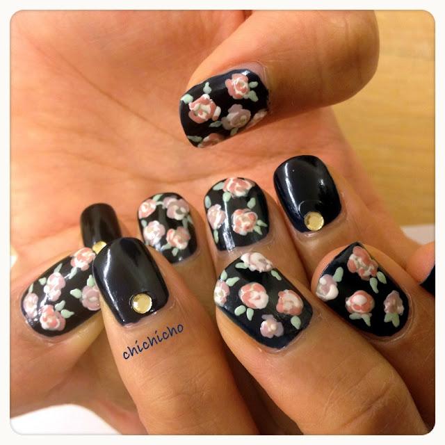 玫瑰花指甲.有片.