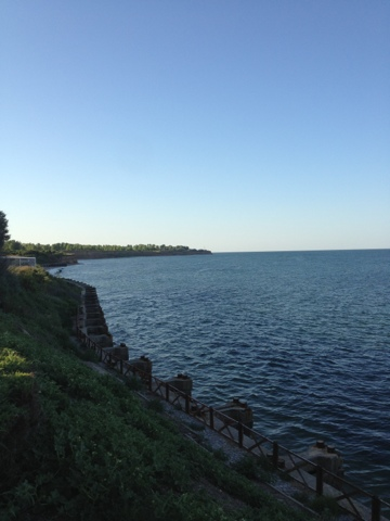 Picture of the Black Sea coast in the village of Krapetz in Bulgaria.