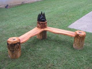 Corner Cabin Bench