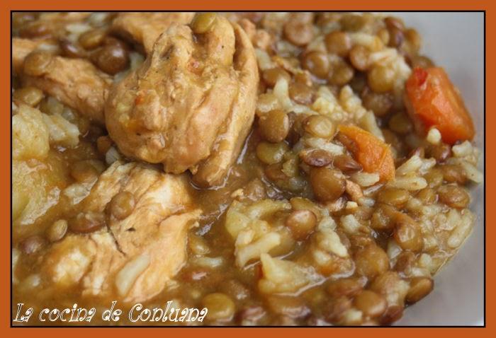 La cocina de conluana lentejas castellanas con pollo y - Lentejas con costillas y patatas ...