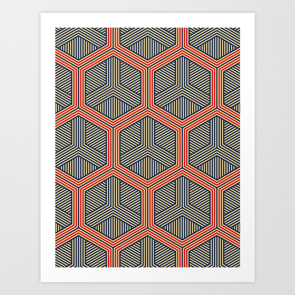 Hexagon by Martin Isaac on Society6
