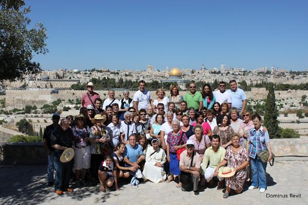 55 peregrinos de Tierra Santa 2012