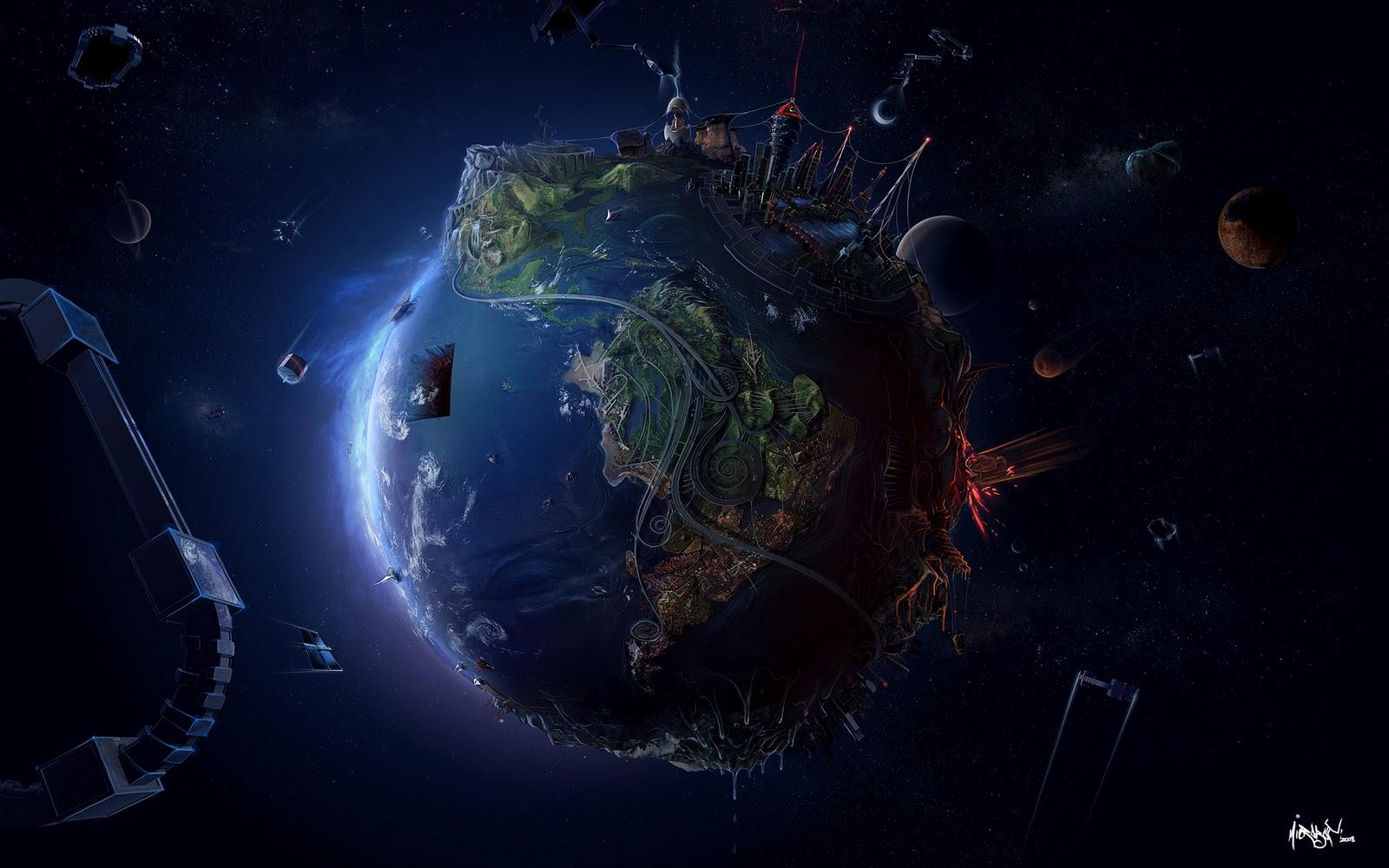 Vibrant planetary background