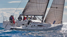 J/111 sailing at Primo Cup Monaco upwind