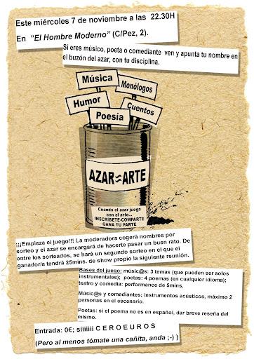 AZAR¡ÖARTE... cuando el azar juega con el Arte AZARARTE