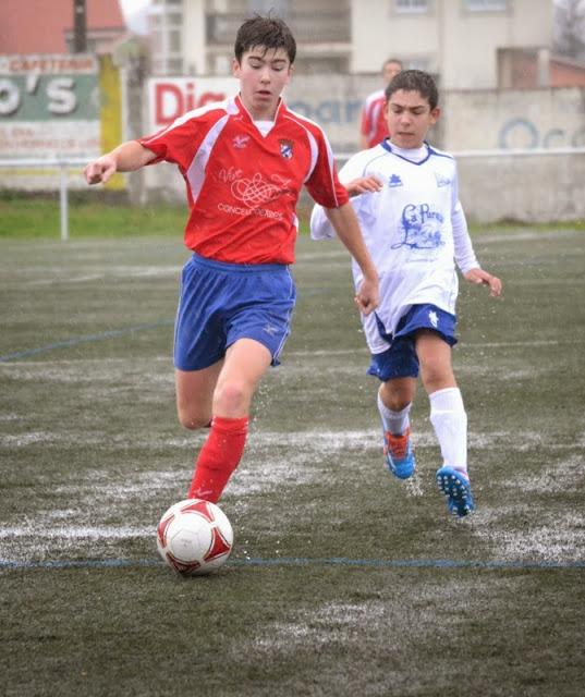 FRAN Anido centrocampista cadete do Numancia de Ares.