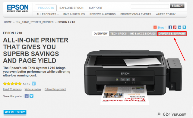 Download Epson L810 printer driver and install guide