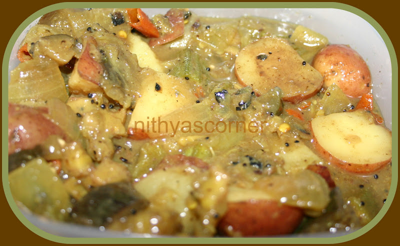 Mixed Vegetables Kuzhambu