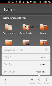 Ubuntu Touch file manager