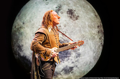 Andrew McGinn as Cyrano in Portland Center Stage's new adaptation of the classic romantic comedy. Portland Center Stage production of Cyrano, photo by Patrick Weishampel/http://blankeye.tv