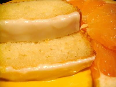 Greek yogurt grapefruit cakes