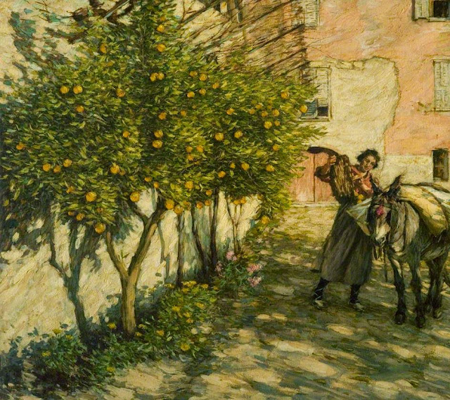 Henry Herbert La Thangue - Gathering Oranges